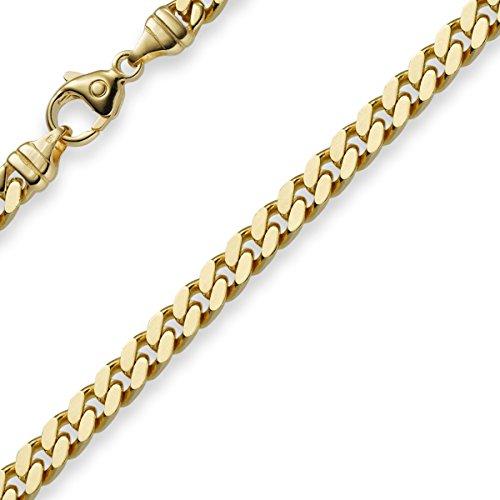 5mm Panzerarmband Armband Armkette 585 Gold Gelbgold 19cm Unisex Goldarmband
