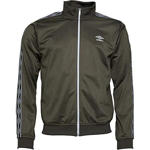 Umbro Herrenjacke, Active-Style, Sweatshirts, mit durchgehendem Reißverschluss, Trainingsjacke, Retro-Stil Gr. Medium, khaki