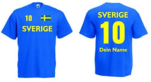 Sverige Trikot mit Wunschname und Wunschnummer von S - 3XL|rb-l