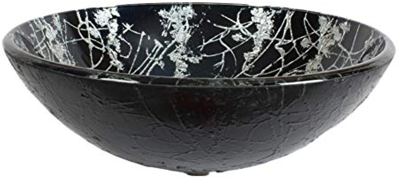 Kohles Gehrtetes Glas Waschbecken im Badezimmer Palast Wind Badezimmer Waschbecken Wasserhahn Badezimmerset, Farbe 1