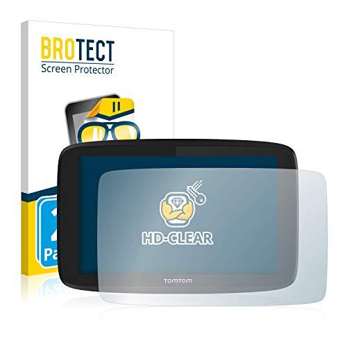 BROTECT Protector Pantalla Compatible con Tomtom GO 620 Protector Transparente (2 Unidades)...