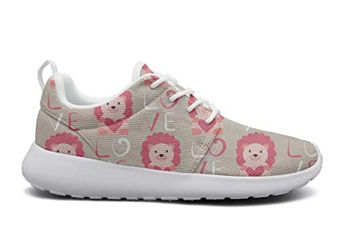 rttyl et67u67 cool sneaker womens ladies fashion Pink lion lovey walking running shoes