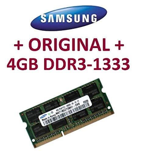 Samsung Original 4GB, 204Pines, DDR3–1333PC3–10600CL9SO-DIMM (M471B5273BH1-CH9) para portátiles DDR3i5+ i7compatibles con DDR3–1333MHz–Módulo de Soporte