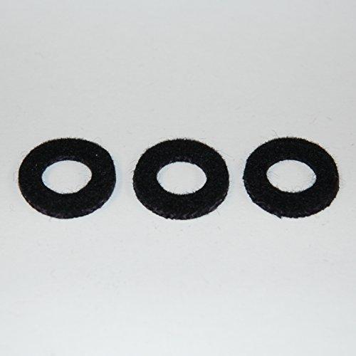 Yamaha Valve Top Cap Felt Washer Black Trumpet Cornet Flugelhorn Set of 3