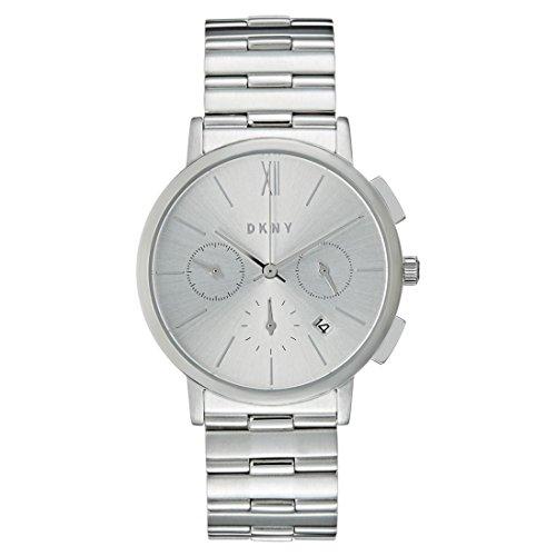 DKNY Damen Chronograph Quarz Uhr mit Edelstahl Armband NY2539