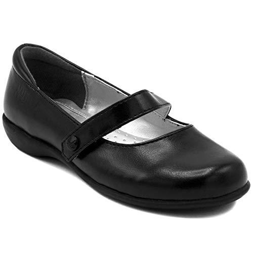Nautica Girls Flat Mary Jane Oxford School Shoe-Doane-Black-1