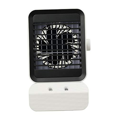 FLAMEER Mini refrigerador de Aire Acondicionado portátil Personal, USB silencioso de Escritorio Ventilador de circulación de Aire humidificador