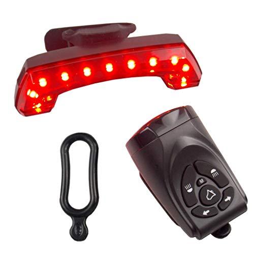Leiouser - Luces de giro para bicicleta con mando a distancia para bicicleta (luz trasera LED, luz trasera USB, luz trasera con cuerno