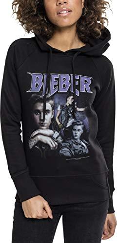MERCHCODE Herren Justin Bieber 90s Hoody Hoodie, Black, M