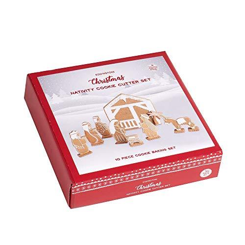 Eddingtons Emporte-pièce en forme de crèche de Noël Pain d'épices Lot de 10