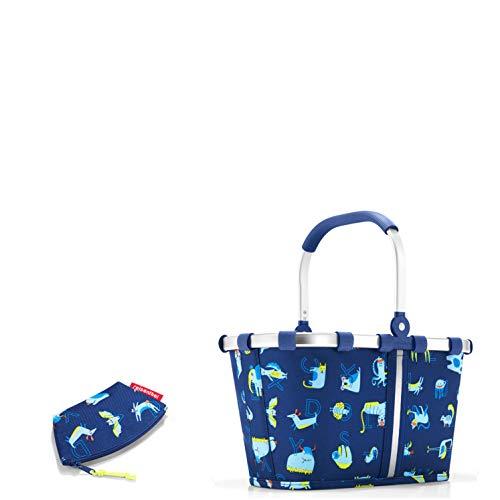 reisenthel Kids Kinder Einkaufskorb/Einkaufskörbchen/carrybags XS ABC Friends Blue Plus Gratis kleine Geldbörse