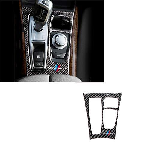 YXSMTB Adesivi per Pannello Scatola Cambio Interni in Fibra di Carbonio Adesivi per Pannelli Copertura per Modanatura Car Styling.per BMW X5 X6 E70 E71 2009 2013