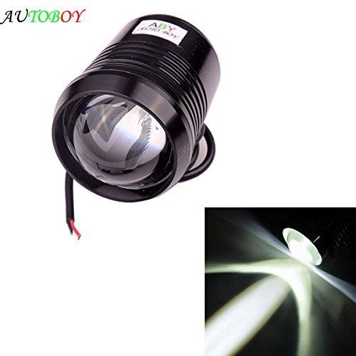 ABy - Foco de luz antiniebla LED de alta potencia para coche, 12 V, 30 W, U2, para motocicleta, ATV, SUV, camión, impermeable, carcasa negra