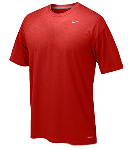 Nike Youth Boys Legend Short Sleeve Tee Shirt (Youth Large, Red)