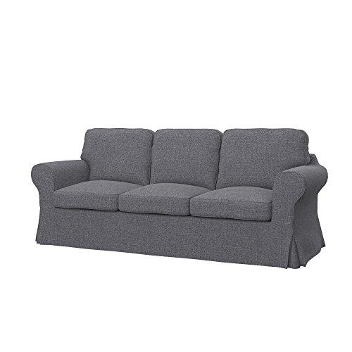 Soferia - IKEA EKTORP PIXBO Funda para sofá Cama de 3 plazas, Naturel Grey
