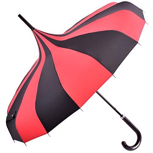 Kung Fu Smith Vintage Viktorianischen Pagode Sonnenschirm Regenschirm UV-Schutz Regenschirm mit Hakengriff