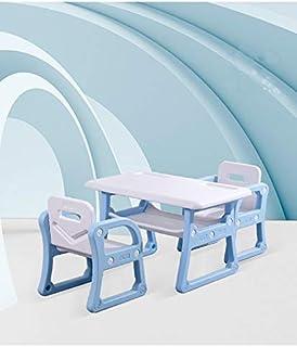 Multipurpose, Multi-Functional Plastic Kids Table & 2 Chair Set - Kindergarten Early Education Study, Toy Play Table, Eati...
