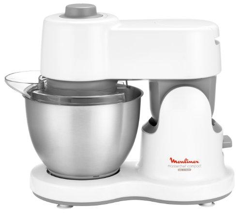 Moulinex QA205110 Masterchef Robot Culinaire Compact + Kit Pâtisserie Blender et Accessoires pour Râper Blanc 700 W