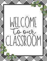 私たちの教室へようこそ農家の教室装飾学校風の教師風の教室インスピレーションレトロアルミレトロメタルロゴ