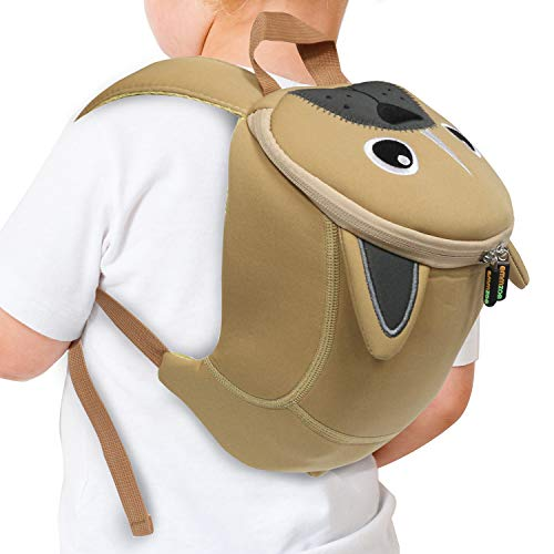 Emmzoe Toddler 3D Animal Backpack with Detachable Safety Harness Leash - Lightweight, Water Resistant, Adjustable - Fits Snacks, Food, Toys (French Bulldog)