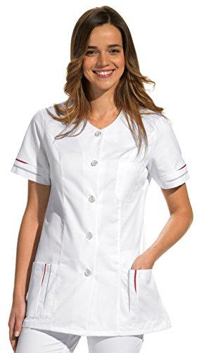 clinicfashion 10114030 Kurzkasack weiß für Damen, Mischgewebe, Größe 40