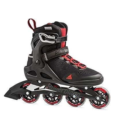 Rollerblade Macroblade 80 Men's Adult Fitness Inline Skate, Black/Red, Medium 9