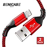 Micro USB Cable, Benicabe (2-Pack) Sync and Fast Charging Cord for Samsung Galaxy S7 Edge/ S7 S6 Note 5, Nexus, Android Charger and More (Red, 6FT)