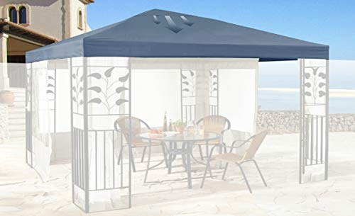 Quick-Star Replacement Roof for Leaves Gazebo 3 x 3 m Grey Replacement Cover