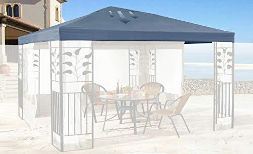 QUICK STAR Ersatzdach für Blätter Pavillon 3x3m Pavillondach Grau Ersatzbezug