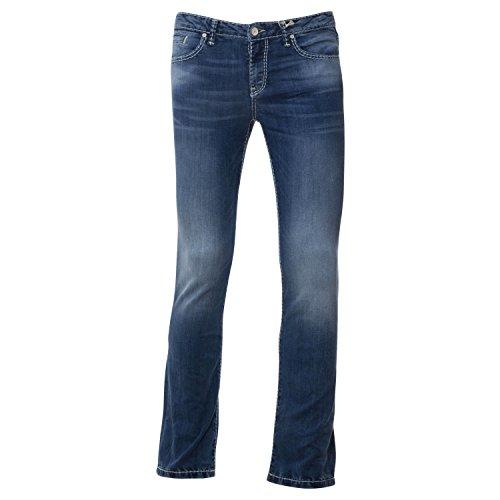 SOCCX Damen Regular Fit Jeans RO:My im leichten Destroy-Look