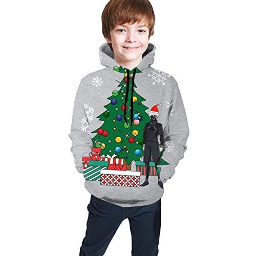 shenguang Ken Kaneki um den Weihnachtsbaum 3D-Druck Pullover Hoodies Kapuzenpullover Sweatshirts für Kinder Teenager Jungen Mädchen
