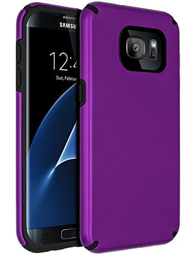 SENON Samsung Galaxy S7 Edge Case,Galaxy S7 Edge Case, Slim-fit Shockproof Anti-Scratch Anti-Fingerprint Protective Case Cover for Samsung Galaxy S7 Edge,Purple