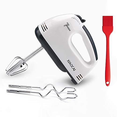 Leaflai Elektrischer Handmixer, Elektrischer Schneebesen 7-Gang-Kuchenmischer 180W Food Beater zum Backen von Küchenlebensmitteln