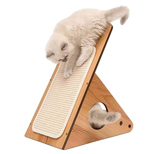 Cat Scratching Post, 17.52x10.24x8.46 Pollici Multifunzionale Cat Scratch Pad, Cat Cave Letto Con Post Graffiatura, Triangolare Kitten Scratch Board, Gatto In Legno Scratch Per Protezione Per Mobili
