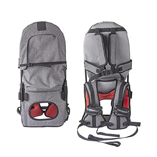 Portabebés portátil para el niño para senderismo y excursión. Sillín plegable manos libres, apto para niños de 1 a 5 años, capacidad para hasta 45 libras