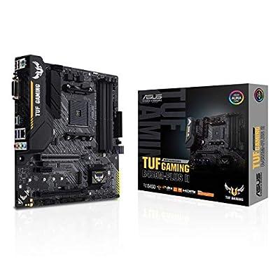 ASUS TUF Gaming B450M-PLUS II AMD AM4 (Ryzen 5000, 3rd Gen Ryzen microATX Gaming Motherboard (DDR4 4400(O.C.), USB 3.2 Gen 2 Type-A, BIOS Flashback, 256Mb BIOS Flash ROM, AI Noise Cancelling Mic