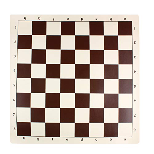 Andux Chess Game Tablero de ajedrez Enrollable XQQP-01 (Marrón, 43 * 43 cm)