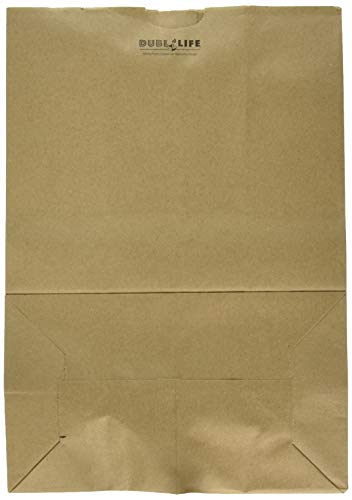 DURO Heavy Duty Kraft Brown Paper Barrel Sack Bag, 57 Lbs Basis Weight, 12 x 7 x 17, 100 Ct/Pack