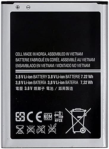 Batería compatible con Samsung Galaxy S4 Mini i9190 de alta capacidad 1900 mAh