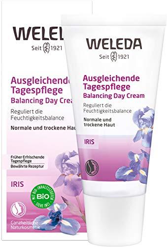 WELEDA Iris Ausgleichende Tagespflege, reichhaltige Naturkosmetik Feuchtigkeitspflege zur intensiven Pflege von trockener Haut, Creme zum Schutz vor Umwelteinflüssen (1 x 30...