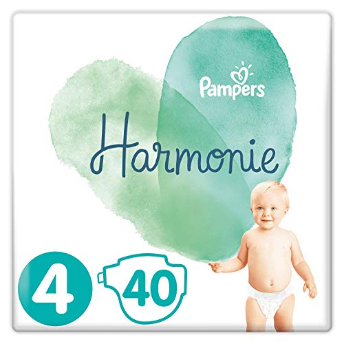 Couches Pampers Taille 4 (9-14 kg) - Harmonie, 40 Couches