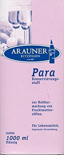 PARA Konservierungsmittel zur Haltbarmachung von Fruchtsäften, ,Limonaden, Brausen usw. sowie Sauerkonserven aller Art 1 Liter