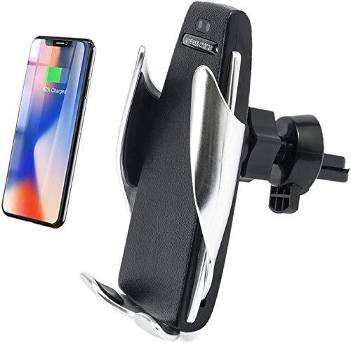 MRTYU-UY Cargador de coche inalámbrico 10 W/7.5 W, rejilla de ventilación automática de sujeción inalámbrica para teléfono de coche compatible con iPhone Xs MAX/XS/X, Samsung Galaxy Note 9/S10/S9