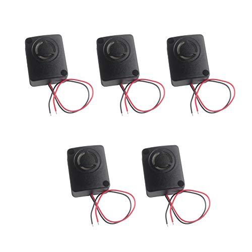 Wishiot 12V DC Black Mini Piezo Alarm Siren 110dB Insurance Safes Anti-Theft Alarm High-Decibel Buzzer for Car(Pack of 5)