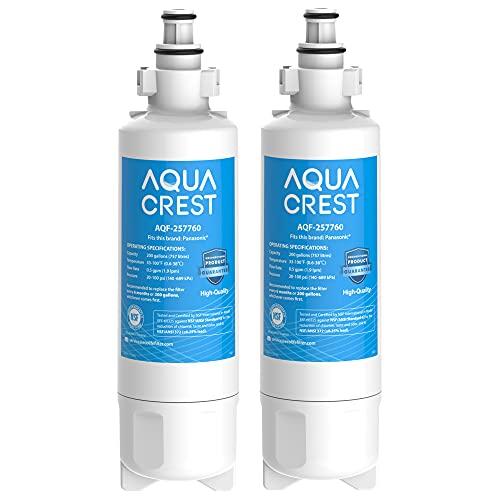 2 x AQUACREST 257760 Kühlschrank Wasserfilter, Kompatibel mit Panasonic CNRAH-257760 125950 NR-B53V1 NR-B53V1-WB/X1D NR-BG53V2 NR-BG53VW2 NR-B53V2-XE NR-B54X1-WB/E EcoAqua EFF-6032B AH-PCN (2)