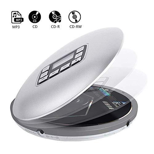 Draagbare CD-muziekweergave, persoonlijke mini-Walkman CD speler met hoofdtelefoon, LCD-display, MP3-, CD-, CD-R en CD-RW-ondersteuning voor kinderen, cadeaus voor volwassenen