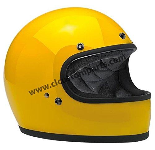 Casco Gringo Biltwell Safe-T Yellow Amarillo integral Helmet Vintage Retro Años 70Custom Chopper Bobber Talla S