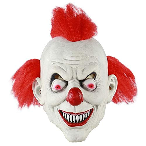 HUANGZHENYIN Maske Cosplay Horror Beängstigend Clown Maske Halloween Latex Maske Party Kostüm Porzellan 30x20cm