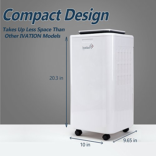 Ivation 11 Pint Small-Area Compressor Dehumidifier
