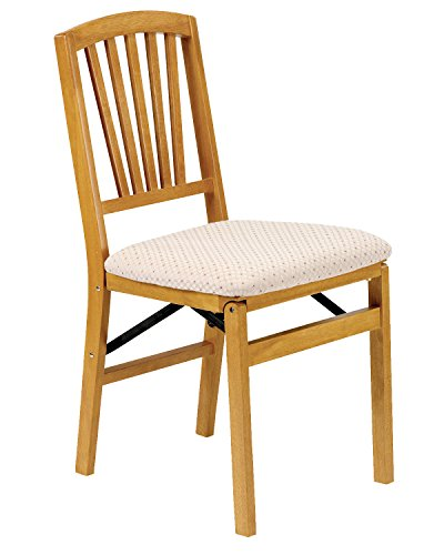 Stakmore Slat Back Folding Chair Finish, Set of 2, Oak